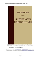 큐리의방사선동위원소연구영어Studies of the radioactive Substances english