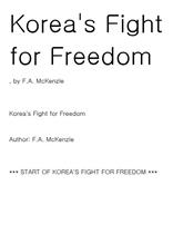 Korea's Fight for Freedom 3.1운동 1919년 3.1운동 1919년