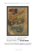 폴안트의 안델센동화.영어.Marchen fur Kinder. Fairy tales for children.Paul Arndt.