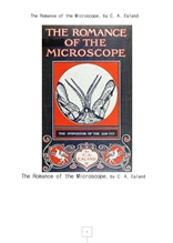 현미경의로망스The Romance of the Microscope, by C. A. Ealand