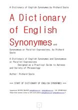 영어동의어사전.A Dictionary of English Synonymes.by Richard Soule