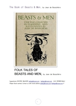 야수와남자.The Book of Beasts & Men, by Jean de Bosschere