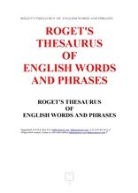 """로게트영어단어숙어동의어사전.ROGET""""S THESAURUS OF ENGLISH WORDS AND PHRASES,by Roget."""