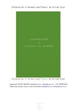 동물과 식물들의 천연색.Colouration in Animals and Plants, by Alfred Tylor