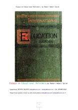 교육개혁자론의 에세이집.Essays on Educational Reformers, by Robert Hebert Quick