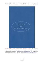 미국 육군사관학교 웨스트포인드 소개서.Guide to West Point, and the U.S. Military Academy, by Various