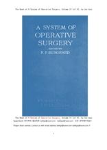 외과 수술 구조책.제4권.부인과 안과 이비인후과.The Book of A System of Operative Surgery, Volume IV (