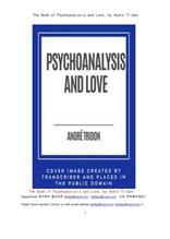 정신분석학과 사랑.The Book of Psychoanalysis and Love, by Andre Tridon