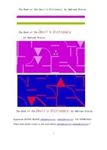 데빌 악마의 사전.The Book of The Devil's Dictionary, by Ambrose Bierce