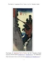 일본의 전래동화 이야기책.The Book of Japanese Fairy Tales, by Yei Theodora Ozaki