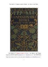 좌우명같은 책.The Book of Companionable Books, by Henry van Dyke