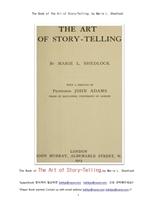 구연 동화의 기술을 위한 책.The Book of The Art of Story-Telling, by Marie L. Shedlock