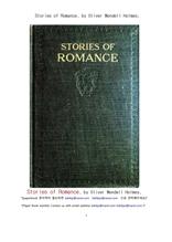 영미 로만스 이야기들.Stories of Romance, by Oliver Wendell Holmes,