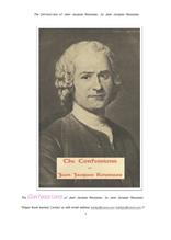 장자크 루소의 고백록.The Confessions of Jean Jacques Rousseau, by Jean Jacques Rousseau