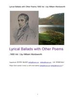 서정가요집 抒情歌謠集.1800년도제1권. Lyrical Ballads with Other Poems,1800 Vol. I,by William Wordswo