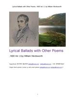 서정가요집 抒情歌謠集.1800년도제2권.Lyrical Ballads with Other Poems, 1800 Vol. 2, by William Wordsw