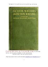 픽션 소설쓰기에서 허구 소설작가들.The Book of Fiction Writers on Fiction Writing, by Various