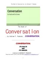 대화 자체의 흠결과 품위.The Book of Conversation, by Andrew P. Peabody