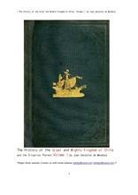 중국의 위대한 절대 왕조 제1권.1.The History of the Great and Mighty Kingdom of China, Volume 1, by J