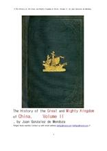 중국의 위대한 절대 왕조 제2권. 2.The History of the Great and Mighty Kingdom of China, Volume II, by