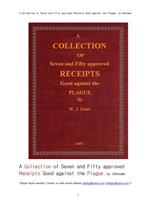 흑사병같은 전염병 역병을 예방 치료 구제에 대해서 수집한 자료집.A Collection of Seven and Fifty appro