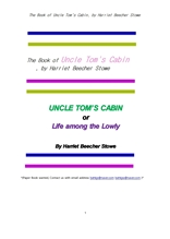 톰아저씨의 오두막집의 책.The Book of Uncle Tom's Cabin, by Harriet Beecher Stowe