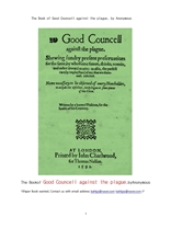 흑사병 역병에 관한 좋은 조언자문.The Book of Good Councell against the plague, by Anonymous