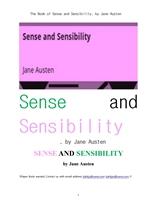 제인 오스틴의 이성과 감성. The Book of Sense and Sensibility, by Jane Austen