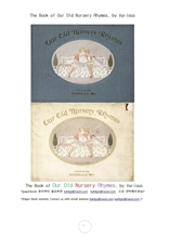 우리들 옛날 전래동요 노래책.The Book of Our Old Nursery Rhymes, by Various