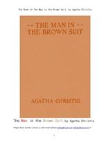 브라운슈이트 갈색옷을 입은 남자.The Book of The Man in the Brown Suit, by Agatha Christie