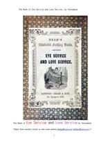 눈으로만보는것과 사랑으로 돌보는것.The Book of Eye Service and Love Service, by Anonymous