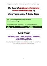 데이비드 흄의 인간의 이해력및 도덕성의 원칙에 관한 탐구. An Enquiry Concerning Human Understanding,
