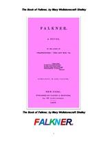 메리 셸리의 포크너. The Book of Falkner, by Mary Wollstonecraft Shelley