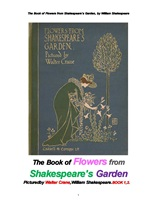 """월터 크레인의 그림이 있는 섹스피어 정원의 꽃들. The Book of Flowers from Shakespeare""""s Garden, by Wi"""