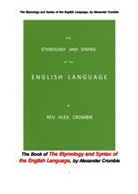 영어 언어의 어원과 문장구조.The Book of The Etymology and Syntax of the English Language, by Alexand