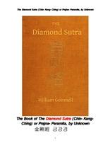 금강경. 金剛經 . The Book of The Diamond Sutra (Chin- Kang-Ching) or Prajna- Paramita, by Unknown